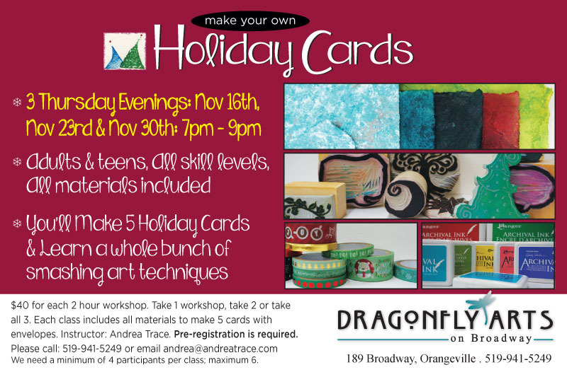 Andrea Trace Holiday Card Making Workshops